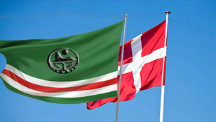 Chechen and the Danish Flag